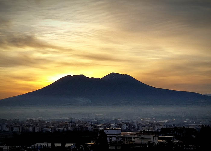 Morning Over Vesuvius 4.  (2 Feb. 2017, Nathanael Miller)